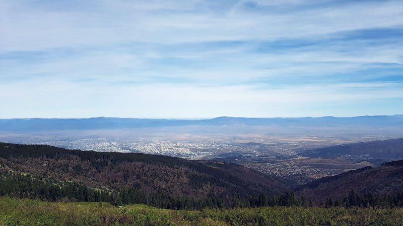 Изглед към София от Витоша